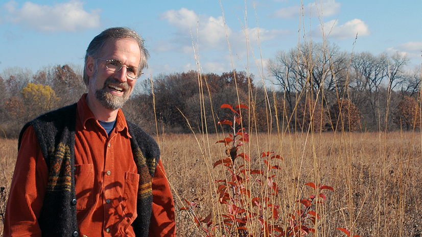 William Cronon at Curtis Prairie, UW-Madison Arboretum, Madison, Wisconsin