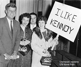 John F. Kennedy visits campus in 1959