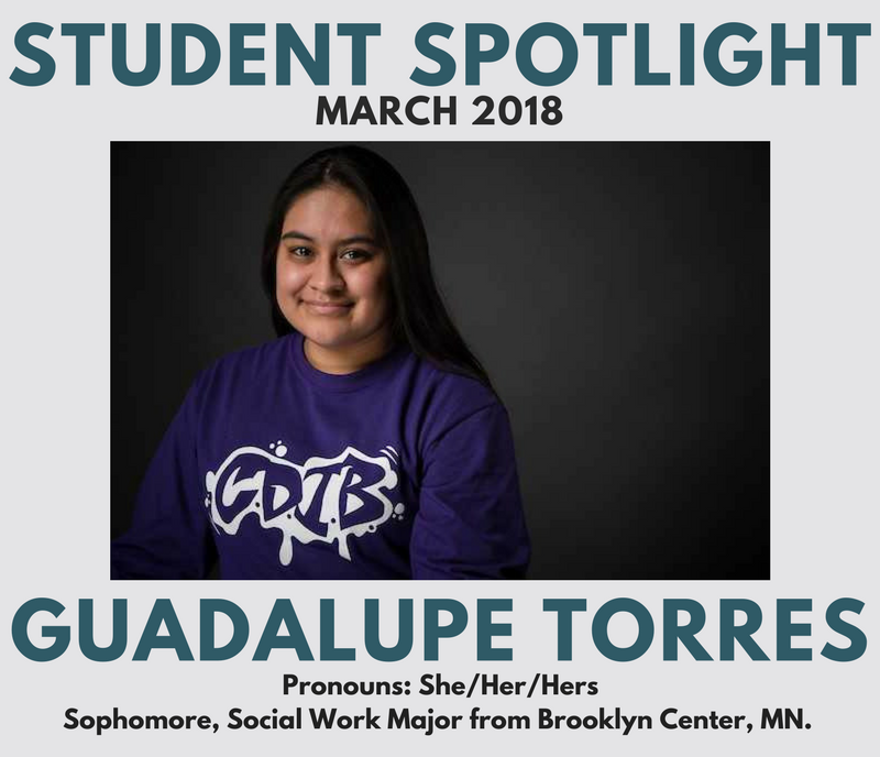 Student Spotlight Martch 2018 Gaudalupe Torres