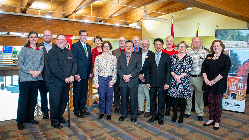 UWRF Cabinet with International Guests