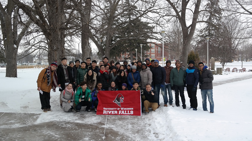 UWRF International Students Experience Snow