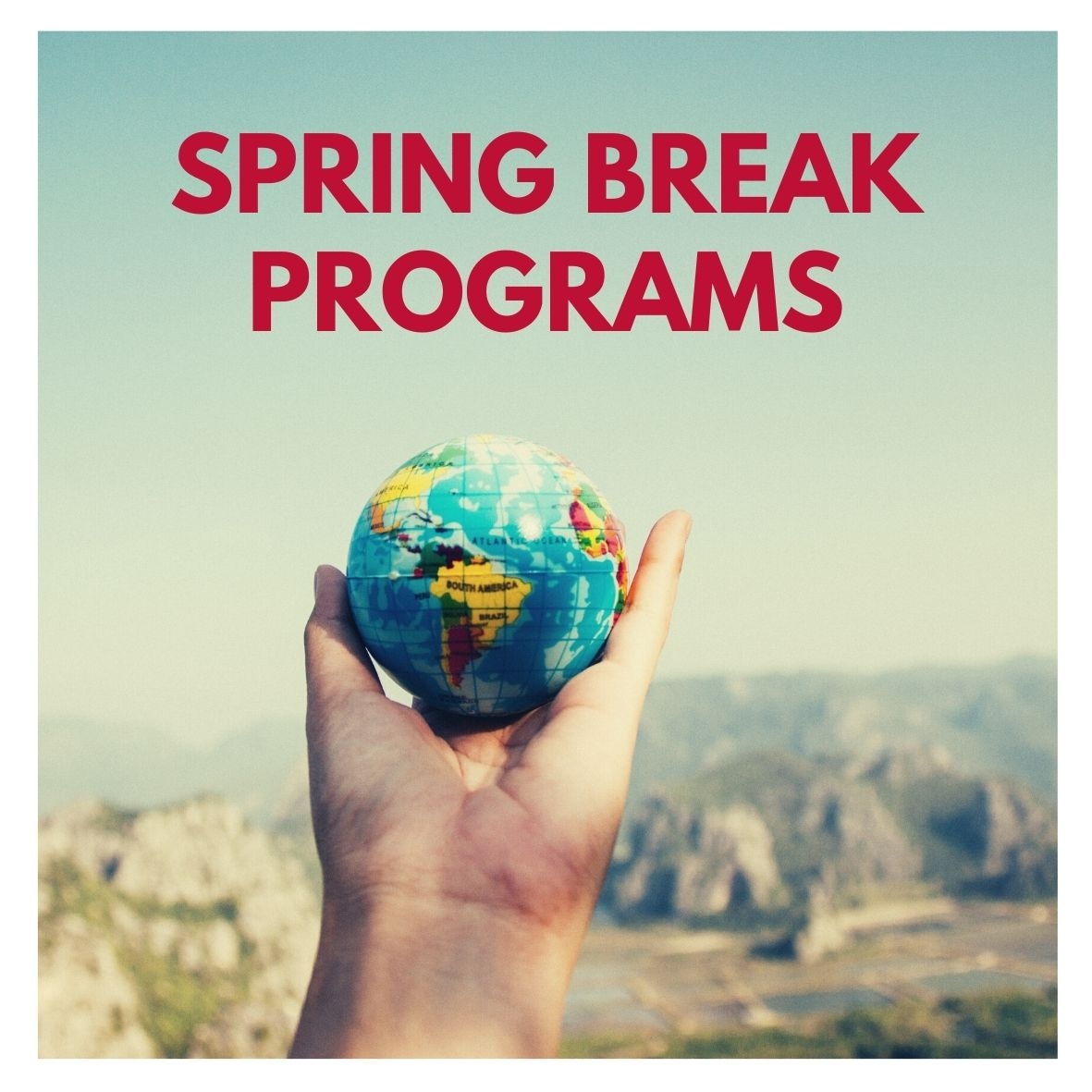 Spring Break Programs button