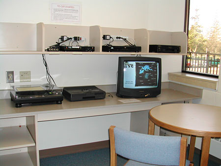 AV Room in Library