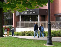 Exterior Shot of Davee Library