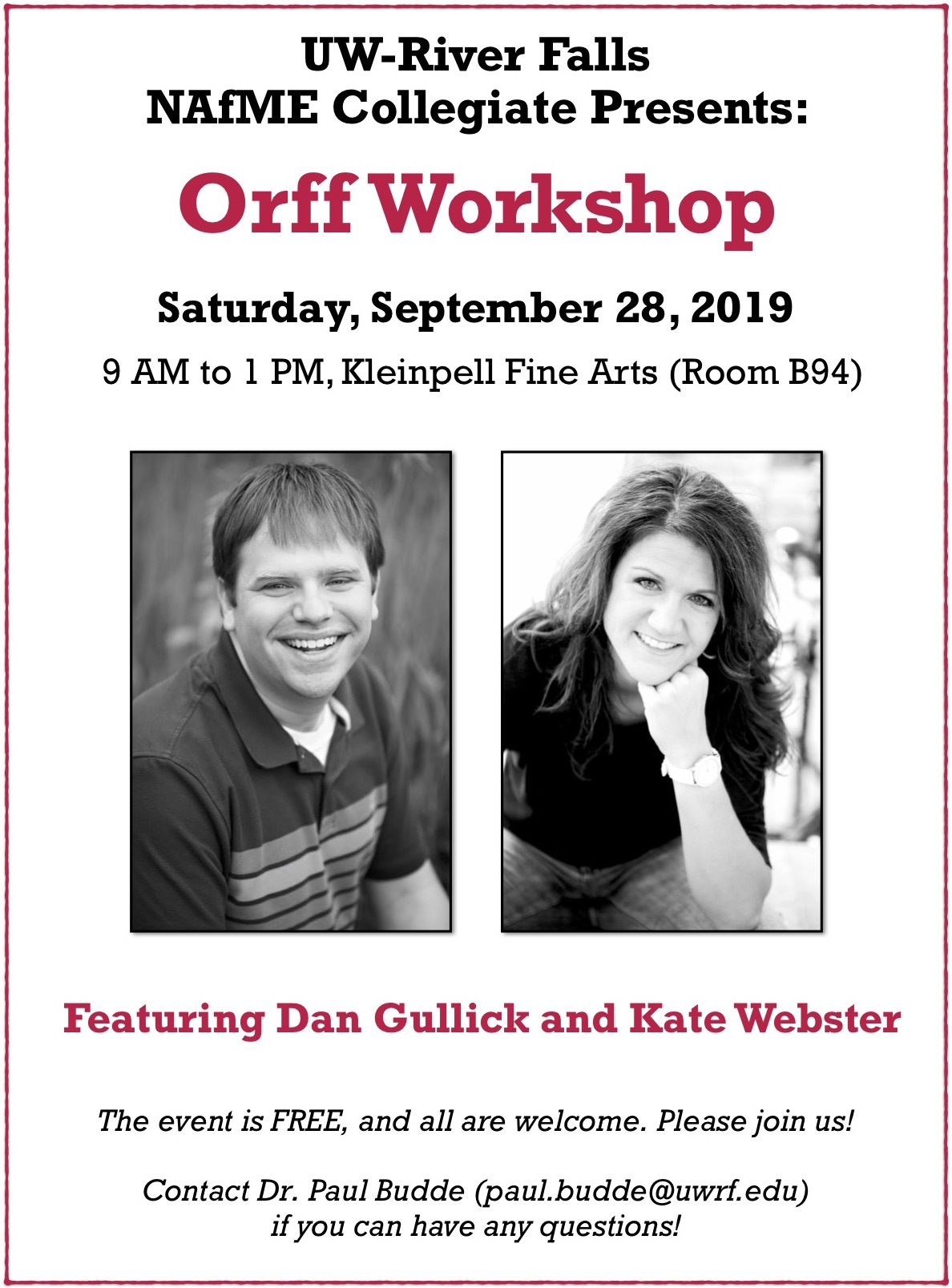 Orff Workshop 2019  (updated)