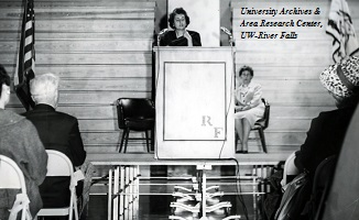 Indira Ghandi speaking at WSC-RF in 1962