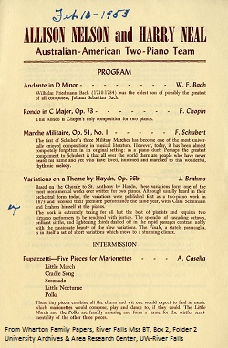 Nelson-Neal Program, Feb 12, 1953