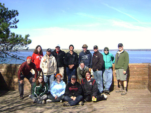 Group photo at Pictured Rocks National Lakeshore