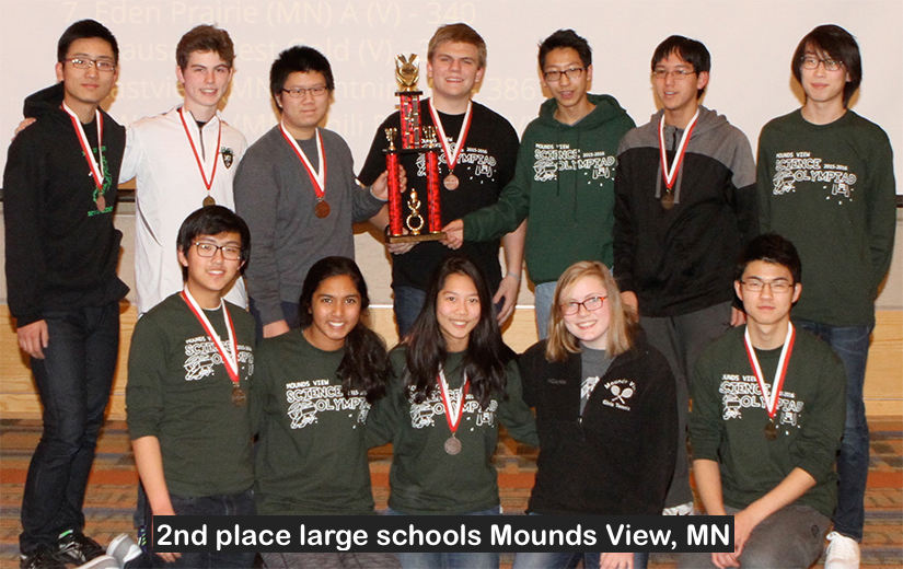 2nd place large schools Mounds View, MN