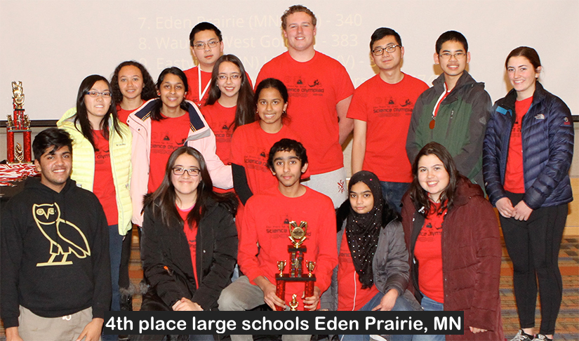 4th place large schools Eden Prairie, MN