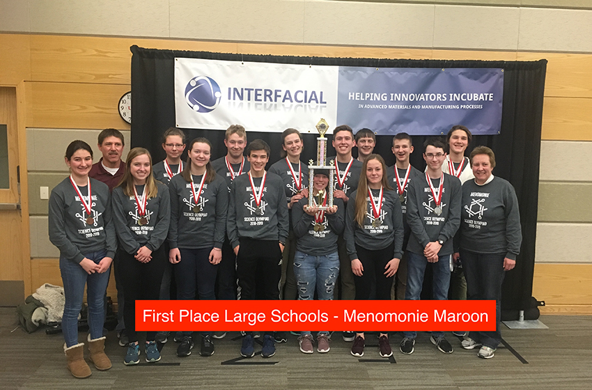 Science Olympiad 2019 First Place Team Menomonie