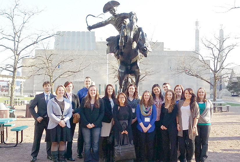Sociology students and faculty attend Midwest Sociological Society conference in Kansas City.