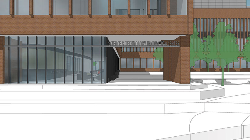 SciTech rendering south entrance