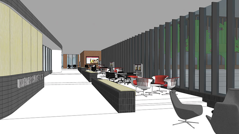 SciTech rendering collaboration concourse