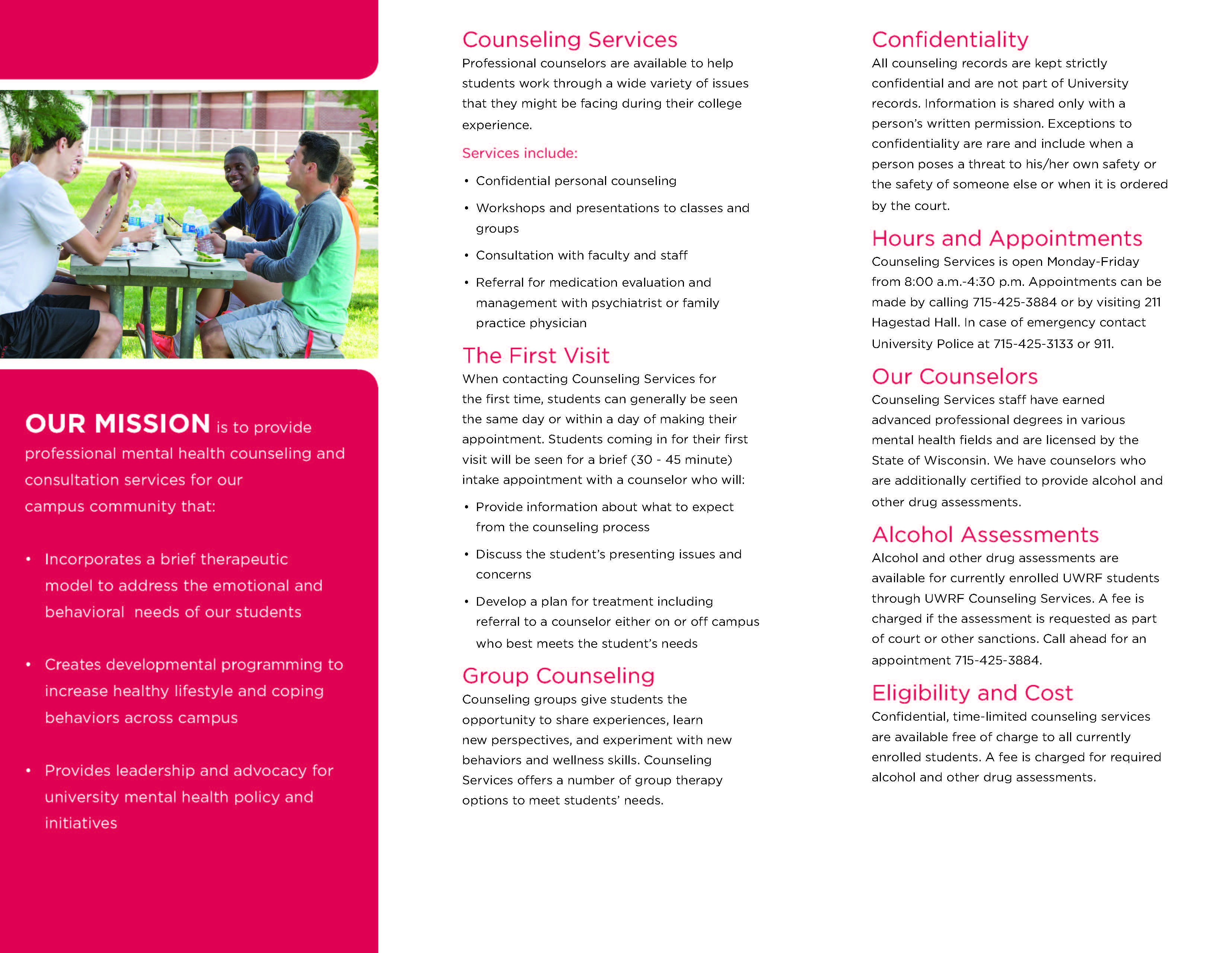 Counseling Services Brochure | University of Wisconsin ...