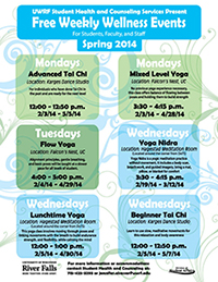 Weekly Wellness Spring 2014 Poster