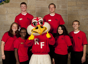 Ambassadors and Freddy the Falcon