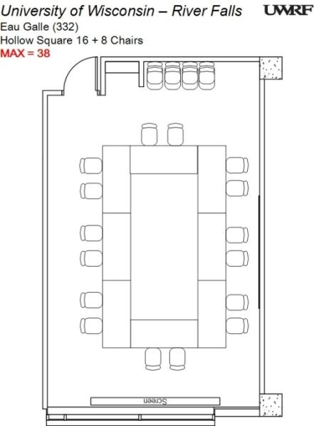 Eau Galle River Room Floorplan