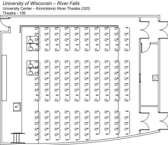 Kinnickinnic River Theater Floorplan
