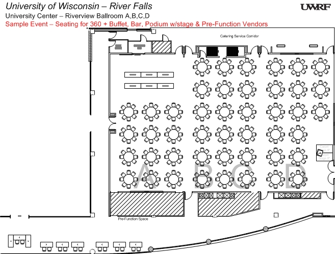Riverview Ballroom Floorplan