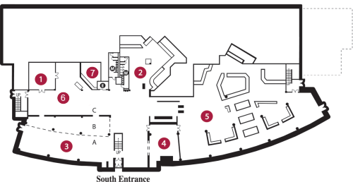 University Center Lower Floor Floorplan