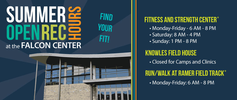 Open Rec Summer Hours