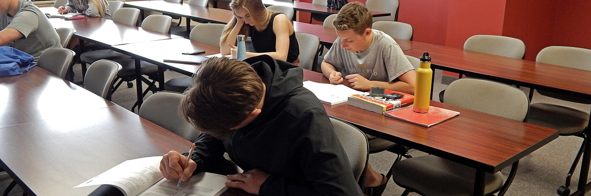 Students participating in ACT Test Prep courses